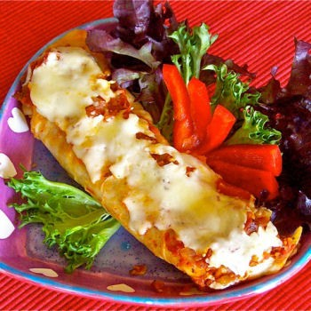 Black Bean Enchiladas (vegetarian)