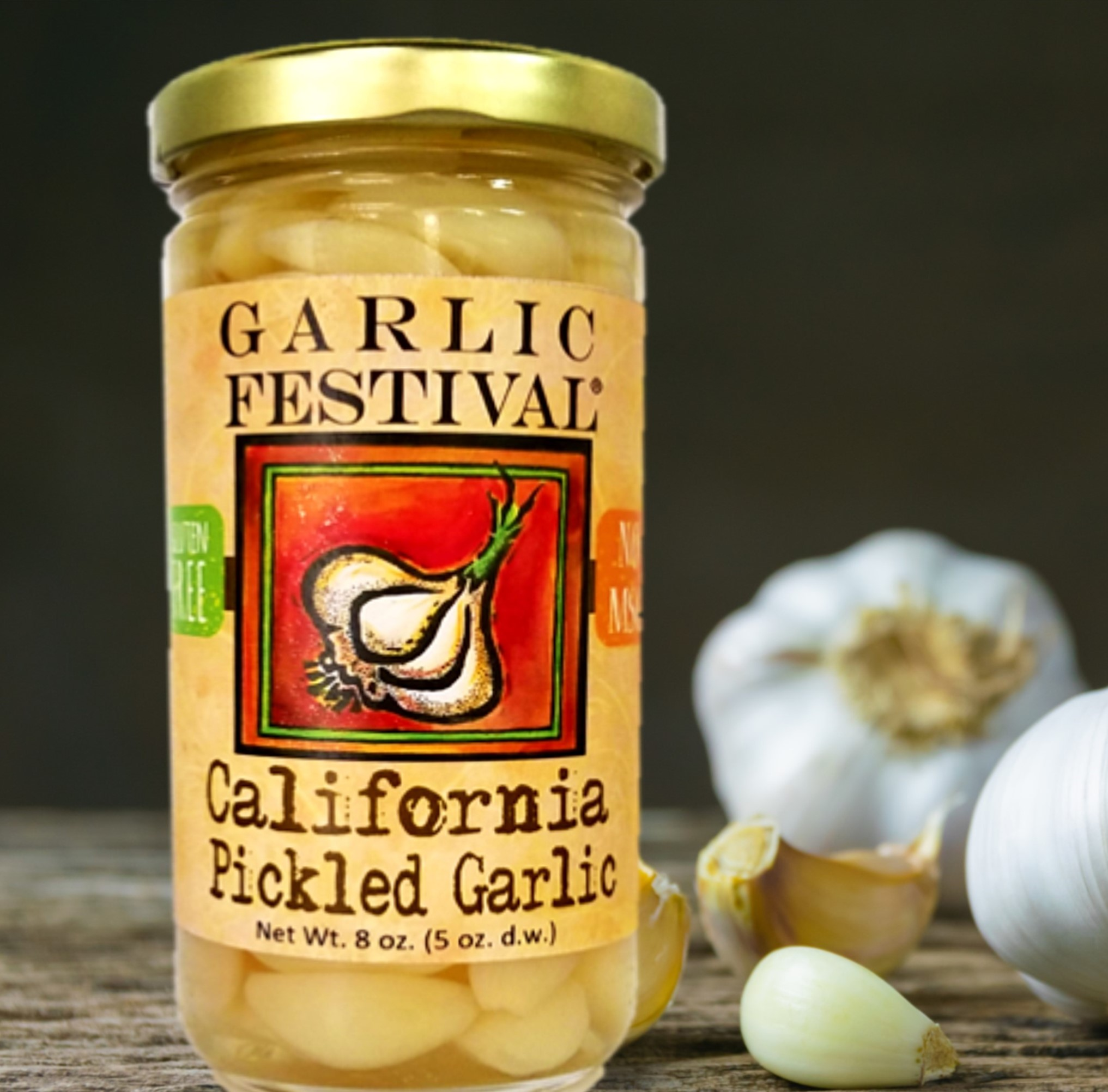 California Pickled Garlic