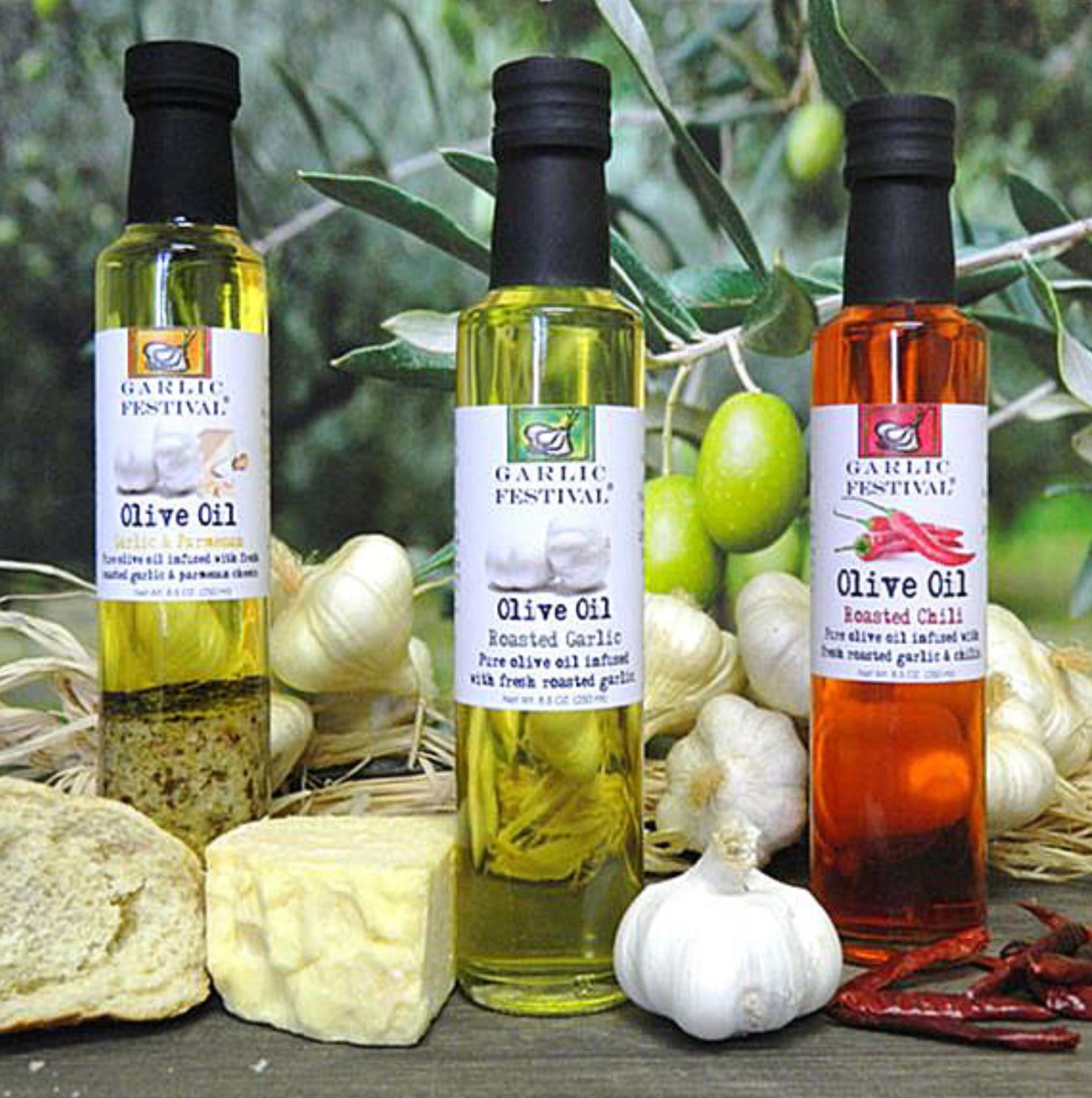 Garlic Festival Foods Garlic Olive Oils & Vinegars
