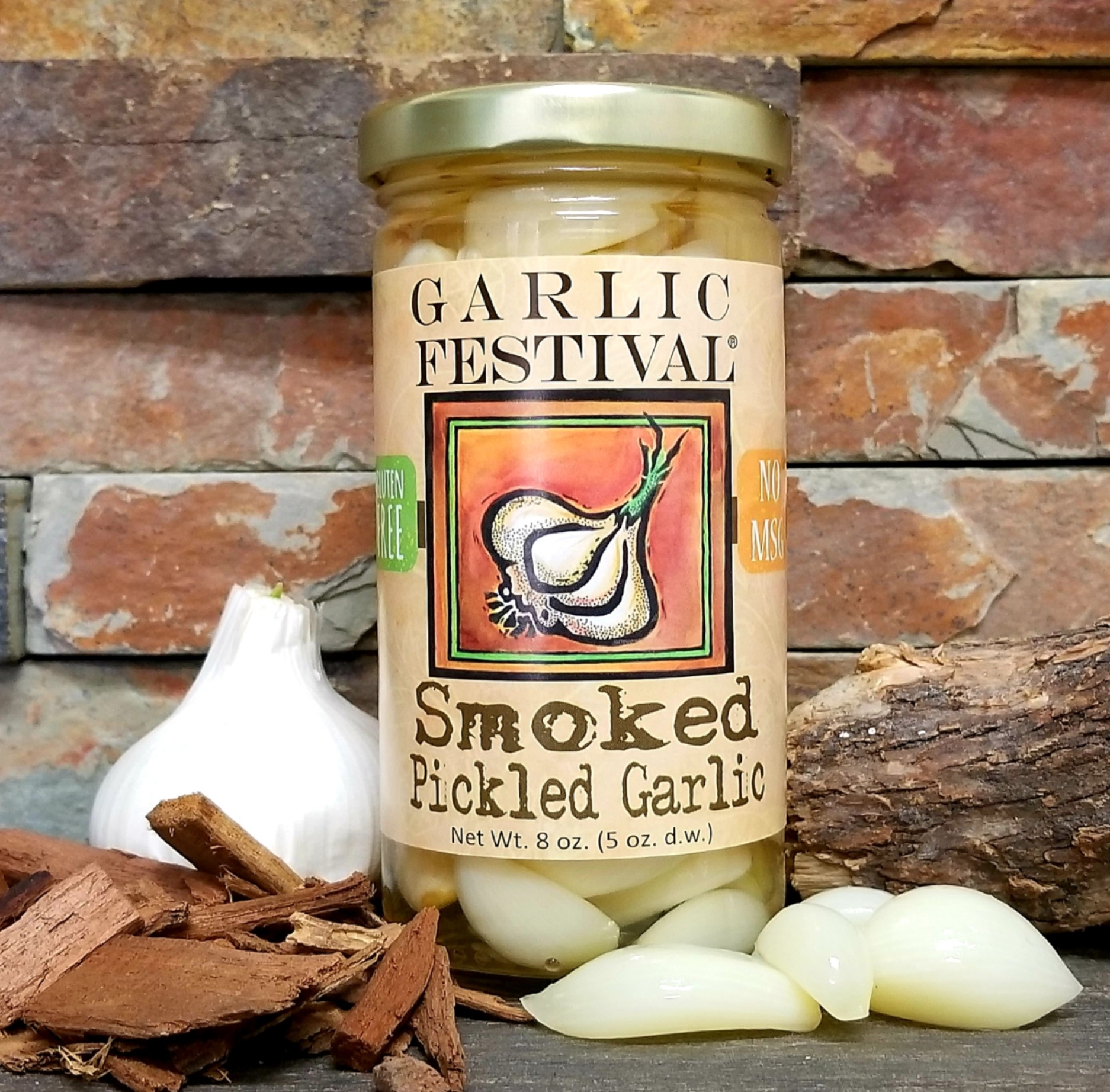 Smoked Pickled Garlic