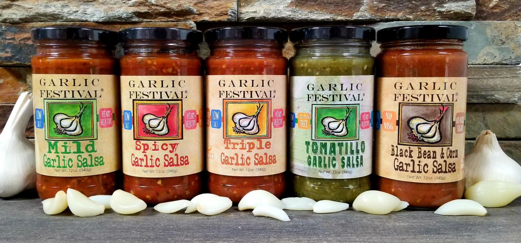 Garlic Festival Foods Garlic Salsas & Hot Sauces