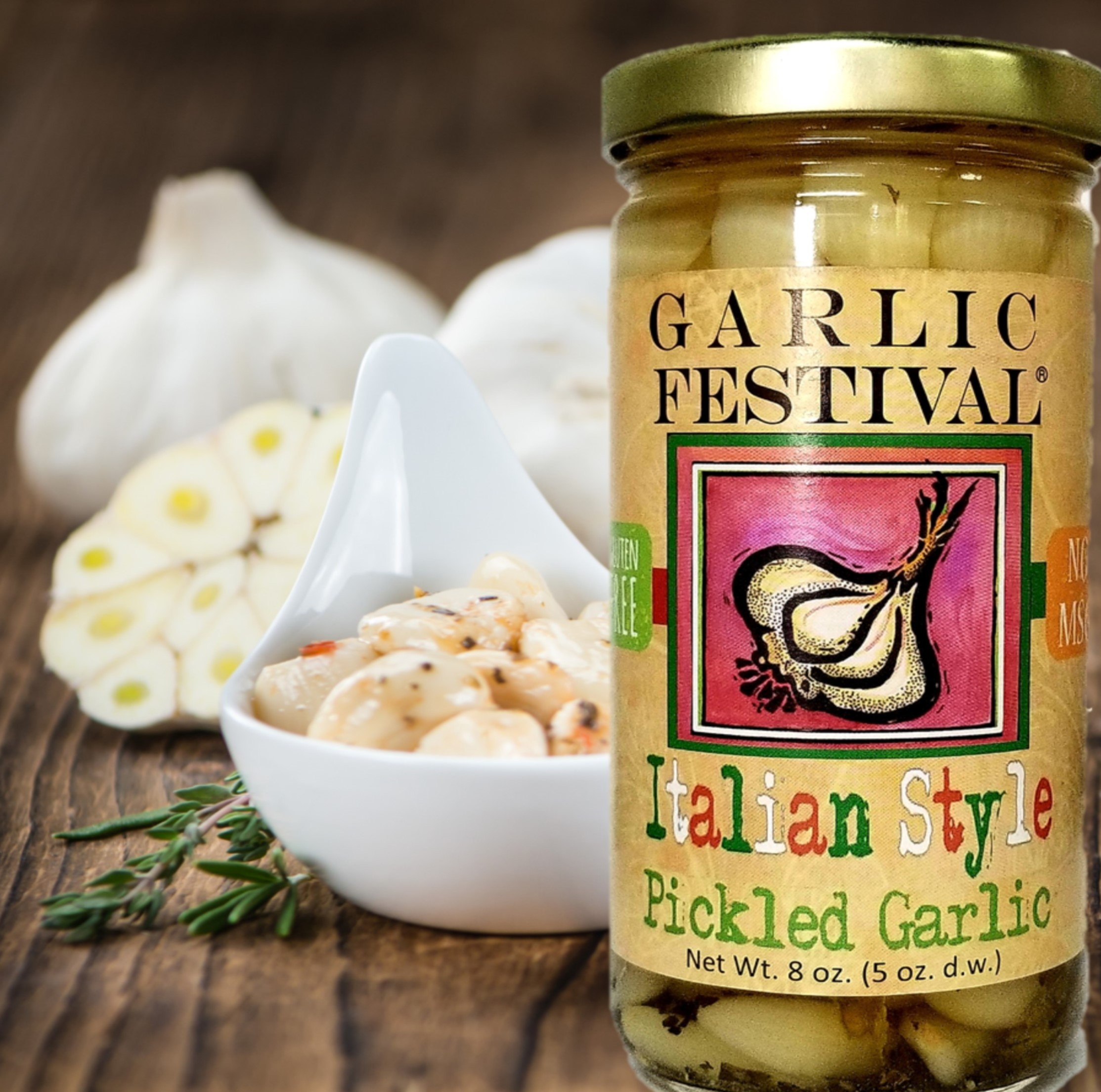 Italian Style Pickled Garlic Case Of 12
