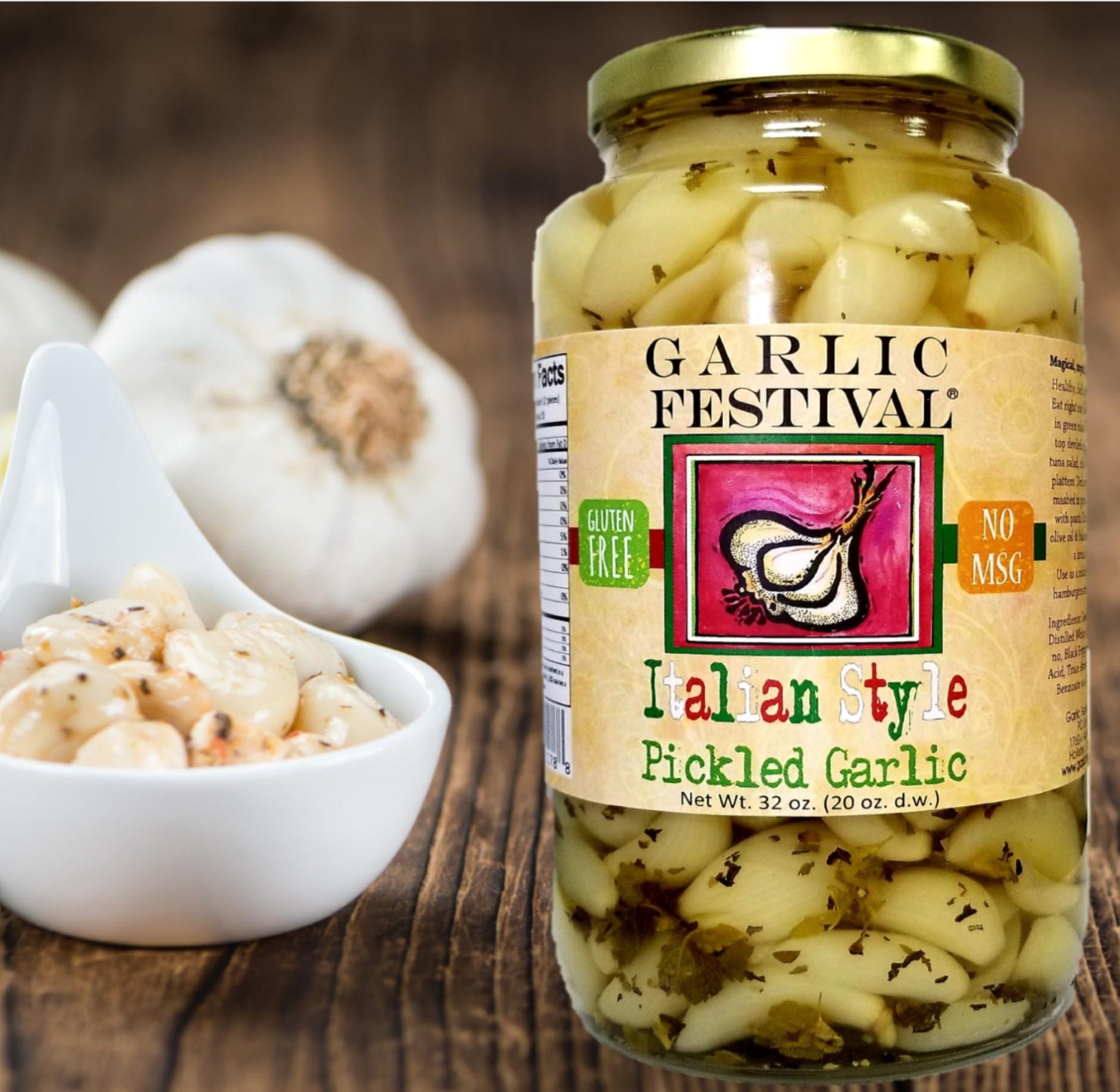 Italian Style Pickled Garlic Quart Case Of 4 Quarts