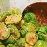 Savory Brussel Sprouts with Mustard and Maple