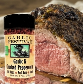 Garlic Festival Foods Cracked Peppercorn & Garlic Beef Roast Recipe