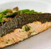 Garlic Festival Foods Pesto Salmon Recipe