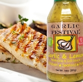 Garlic Festival Grilled Garlic & Lemon Halibut Recipe