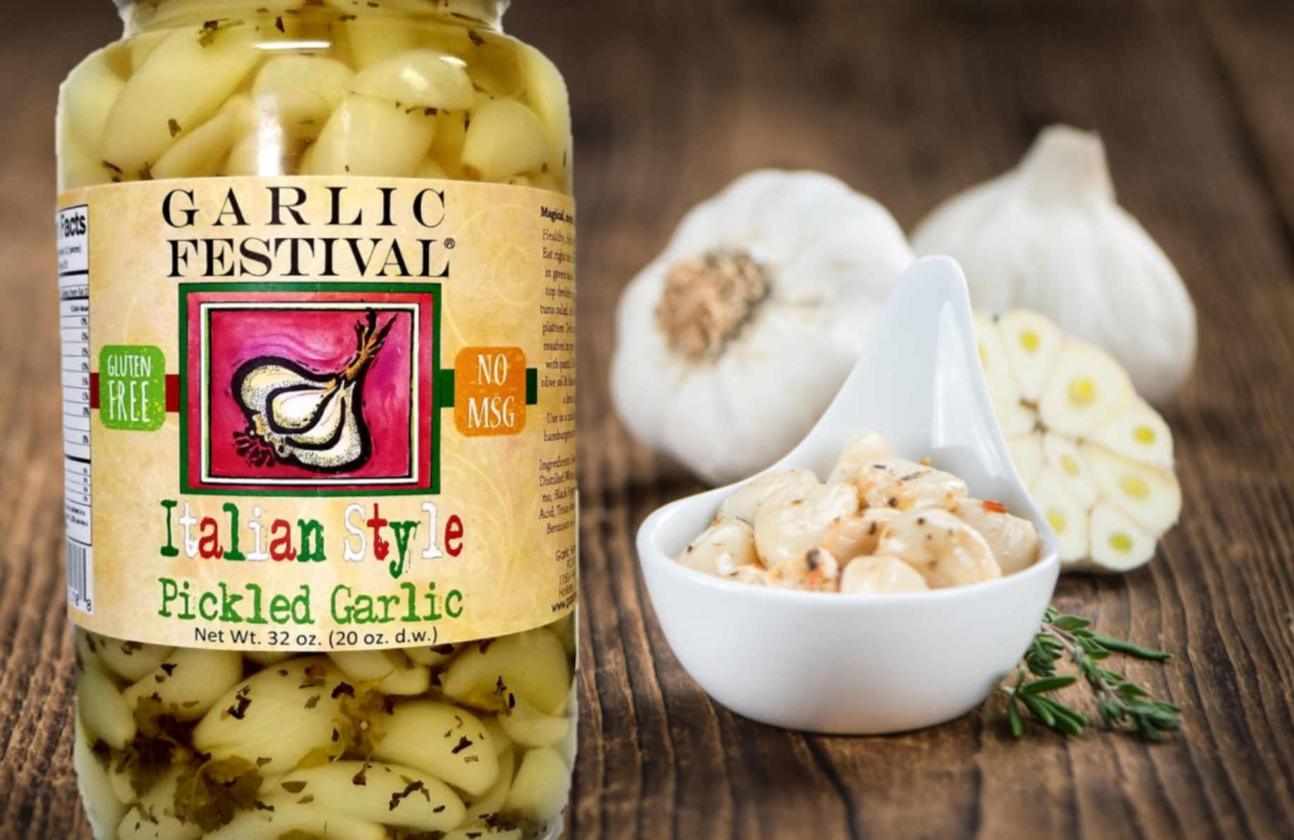 Italian Style Pickled Garlic Quart