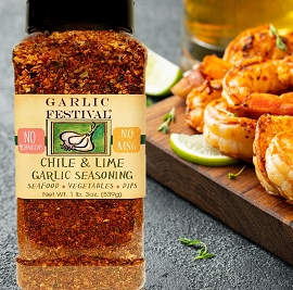 Chili & Lime Garlic Seasoning Case of 4 Grandes