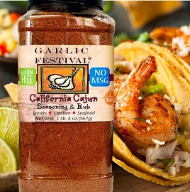 California Cajun Seasoning Grande Case of 4 Grandes