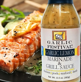 Garlic & Lemon Marinade & Grill Sauce Case of 12