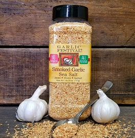 Smoked Garlic Sea Salt Case of 4 Grandes