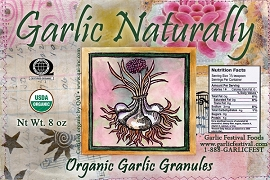 Garlic Naturally Organic Garlic Granules 8oz. Bag