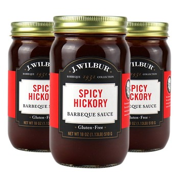 J. Wilbur Foods Spicy Hickory Barbeque Sauce Case of 6
