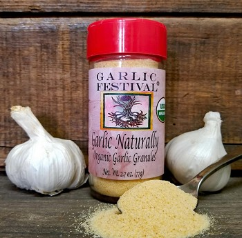Garlic Naturally Roasted Garlic Granules Case of 12 Jars