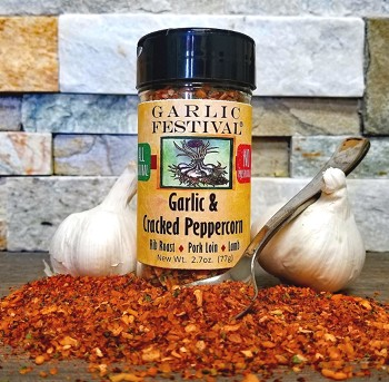 Garlic & Cracked Peppercorn Seasoning & Rub 2.7 oz