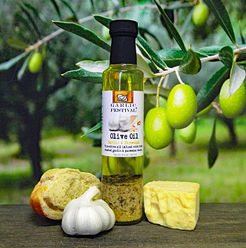 Garlic Festival Garlic & Parmesan Olive Oil Case of 12