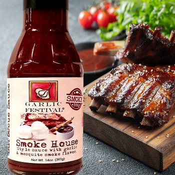 Smoke House Style Garlic & Mesquite Barbecue Sauce