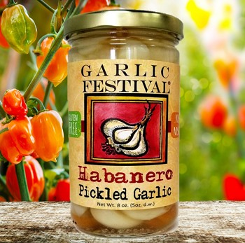 Habanero Pickled Garlic Case of 12