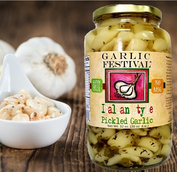 Italian Style Pickled Garlic Quart  Case of 4 Quarts
