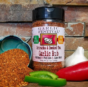 Sriracha Garlic & Smoked Tea Rub Case of 12 jars