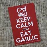 Keep Calm and Eat Garlic Sticker