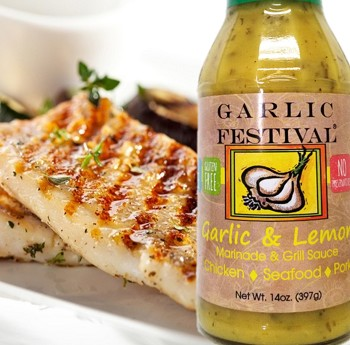 Garlic Festival Grilled Garlic & Lemon Halibut