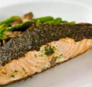Garlic Pesto Salmon