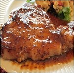 Garlic Festival Style Pork Chops